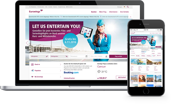 Branche Tourismus Beispiel Eurowings